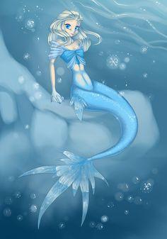 I love fish dammit >:€ Mermaid Elsa Elsa Mermaid, Mermaid Disney, Mermaid Princess, Mermaid Art, Disney Princess, Frozen And Tangled, Disney Frozen, Disney And Dreamworks, Disney Pixar