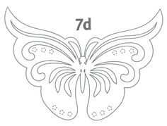Creative Ideas - DIY Pretty Kirigami Butterfly Postcard from Template 5 Butterfly Template, Butterfly Crafts, Butterfly Pattern, Butterfly Art, Butterflies, Kirigami, Daddy Daughter Dates, Stencils, Paper Art