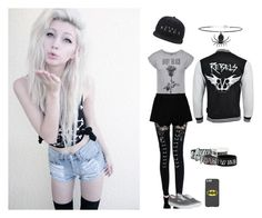 """Andy Black"" by alicehorrorx ❤ liked on Polyvore featuring Chicnova Fashion, Vans and Topshop"