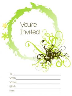 You're Invited Party Invitation Free Printable Invitations, Printable Party, Party Invitations, Free Printables, Youre Invited, Sign I, Rsvp, Free Printable