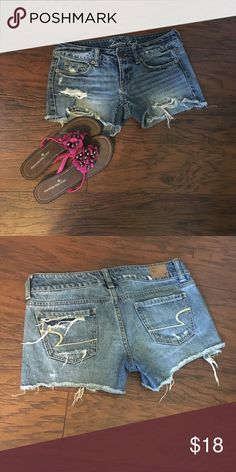 American Eagle Shorts SANDALS SOLD SEPARATELY‼️                                                                                                                                                                                                                                                                                                                                                                                          MAKE ME AN OFFER🌞 American Eagle Outfitters Shorts Jean Shorts