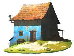 ArtStation - Farmer's hut, OKU .