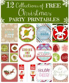 Lots of Christmas printables!
