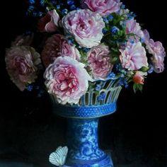bouquet of roses, 60x80 cm, original oil painting