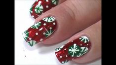"""""""Retro Snowflakes"""" Let it Snow by JaeMarie2008 (Youtube Nail Collab)"""