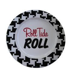 Roll Tide Roll Painted Plate. $45.00, via Etsy.