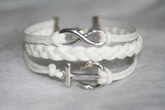 Bracelet infinity karma anchor bracelet infinity wishes gift for friends/girlfriend/present. $6.99, via Etsy.