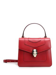 Bvlgari Red, Bulgari Bag, Forever Red, Red Bags, World Of Fashion, Luxury Branding, Leather Handbags, Red Leather, Wallets