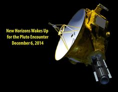"""""""It's ALIVE! The @NASANewHorizons mission control just received full confirmation at 9:53 p.m ET! Pluto get ready!"""" Tweet on December 6, 2014. New Horizons has woken up from its final nap and is ready to get to work."""