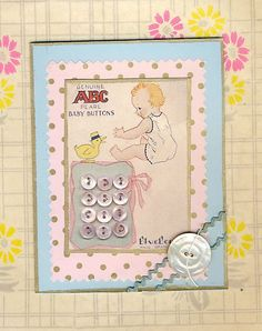 Baby Button Cards