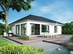 Home Design Plans, Plan Design, Bungalows, Modern Interior, Interior And Exterior, Bungalow Conversion, House Plans South Africa, Rear Extension, New House Plans