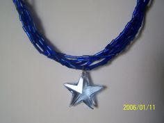 Light Sapphire Swarovski Star Pendant by lindasoriginaljewels, $30.00