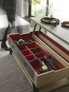 Coffee Table With Storage, Table Storage, Brest, Decoration, Home, Collection, Lift Top Coffee Table, Chest Coffee Tables, Red Interiors