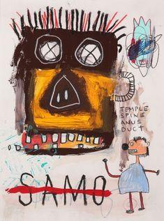 Work is firmly Andy collab period. Jm Basquiat, Jean Michel Basquiat Art, Basquiat Paintings, Radiant Child, Graffiti, Andy Warhol, Neo Expressionism, Art Brut, Arte Pop
