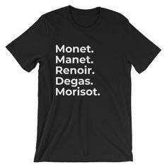 e1520b336a4 Impressionist Short-Sleeve Unisex T-Shirt art history geek.