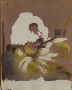 """Saatchi Art Artist Frederic Belaubre; Painting, """"Little guitarist"""" #art"""
