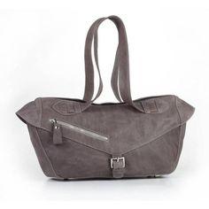 Colle'cte Rimini Grey Handbag ($155) via Polyvore