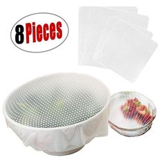 Keep Food Fresher for Longer.Perfect Alternative to Plastic Wrap or Foil. Highlights  These flexible and reusable food-grade silicone covers can easily stretch