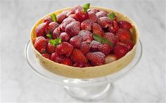 Tarted up: use this pastry recipe to create an incredibly thin, crispy and delicious golden strawberry tart