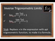 Limits: Evaluating Inverse Trigonometric Limits IIT JEE Maths 11th 12th CBSE