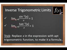 Limits: Evaluating Inverse Trigonometric Limits IIT JEE Maths 11th 12th CBSE