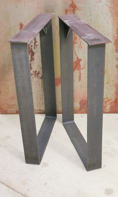 Metal Table Legs Squared Thick Flat bar by SteelImpression