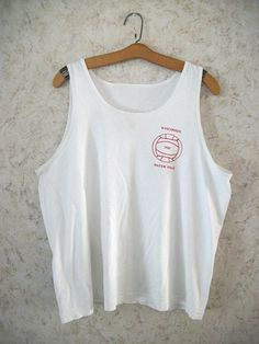 1a36a8cb78057 1989 Rad Tank Top WISCONSIN BADGERS Water Polo Rare 80s Retro Fashion White  Sleeveless Hipster Vintage Unisex Mens XL