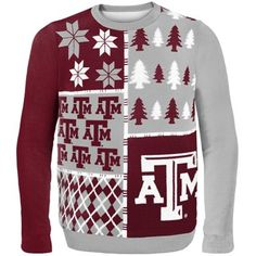 Texas A&M Aggies Gray Busy Block Ugly Sweater! This how you rep your school in December! #CantWaitForChristmas