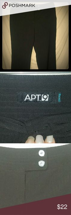Black dress pants Used but great condition.  Three button  Apt. 9 brand 14 short Apt. 9 Pants Trousers