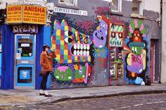 colorful London street art