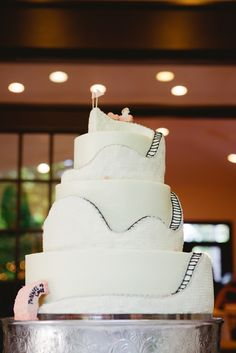 Our Roller Coaster Wedding Cake