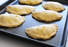 corn and green chili empanadas...I want to veganize these and make them with calabasitas