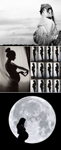 The Ultimate Modern Maternity Photo Guide – 55 Seriously Adorable Modern Maternity Photo Ideas - Artistic Silhouette