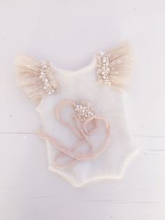 Image of Beaded Champagne Romper