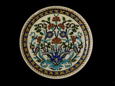 "RARE Antique Turkish / Ottoman Kutahya Pottery, BEAUTIFUL 12.5""D Plate   eBay"