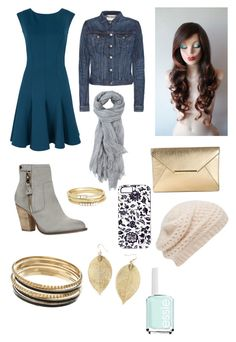 """Grey/teal/gold trend"" by genevamq on Polyvore"
