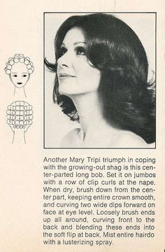 1970s hair setting pattern from incurlers on Flickr