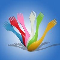 plastic spork/plastic spoon fork and knife/plastic fork spoon knife in one