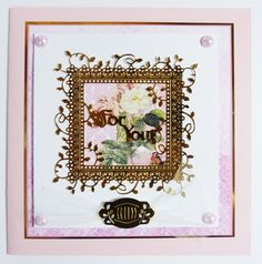 'For you' - Interlocking Die from the Tattered Lace range. Visit tatteredlace.co.uk for a list of available stockists. Tattered Lace Cards, Die Cut Cards, Scrapbook Cards, Handmade Cards, Delicate, Range, Printables, Pretty, Inspiration