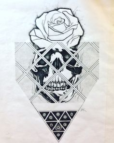 Geometric skullrose and triangle  Dots