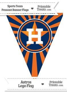 Houston Astros Pennant Banner Flag from PrintableTreats.com