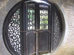 I took this at the Museum of Fine China at JingDeZheng, Jiangxi Province. This is my photo of traditional Chinese Doors, which usually has two panels for good FengSui and decorative art carvings. Chinese Architecture, Beautiful Architecture, Architecture Design, Chinese Door, Make A Door, 5 Elements, China Art, Fine China, Cool Doors