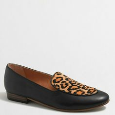 🚨HP! J.Crew factory calf hair stacked heel loafer Sorry, NO TRADES  Price firm unless bundled   Save money and bundle!  Save 10 percent on any bundle of 2 or more items! J. Crew Shoes Flats & Loafers