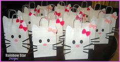 10 Hello Kitty Party /Goody Bags Loot Bags by cocomonkeyshop, $30.00 Ailleens wedding shower favors