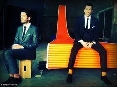 Drew Scott's photo: Is it my fault that my chair is more comfortable than Jonathan's?