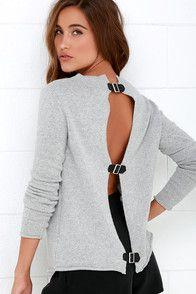 BB Dakota Jodie Light Grey Sweater