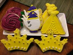 Beauty and the Beast bridal shower cookies