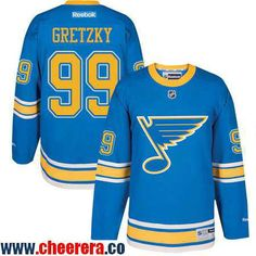 Men's St. Louis Blues #99 Wayne Gretzky Blue 2017 Winter Classic Stitched NHL Reebok Hockey Jersey
