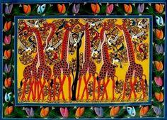 tingatinga art from the National Arts Council in Tanzania