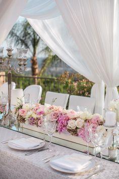Phoot: Jasmine Star; 20 Perfect Rose-Inspired Wedding Ideas to Spark Romance - wedding centerpiece idea;